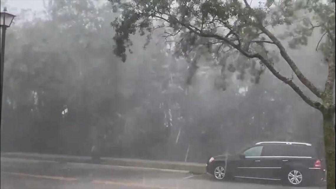 Severe thunderstorms slam central Florida