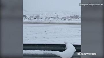 Heavy snow shuts down highway
