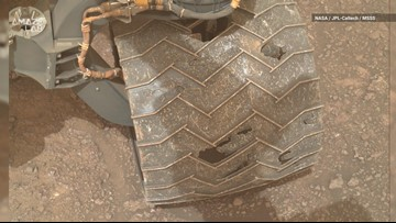 Mars Wear and Tear: Curiosity Snaps New Photos of Wheel Damage