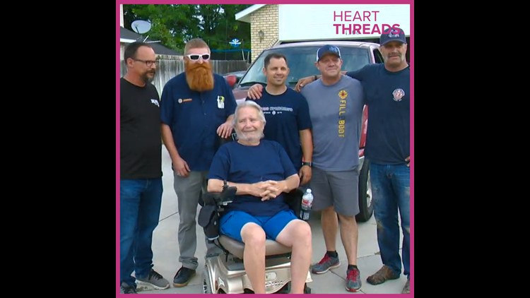 Fire department and neighbors build ramp for disabled veteran
