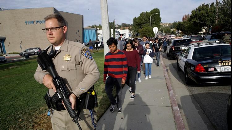 California High School Shooting students leaving scene Nov 14