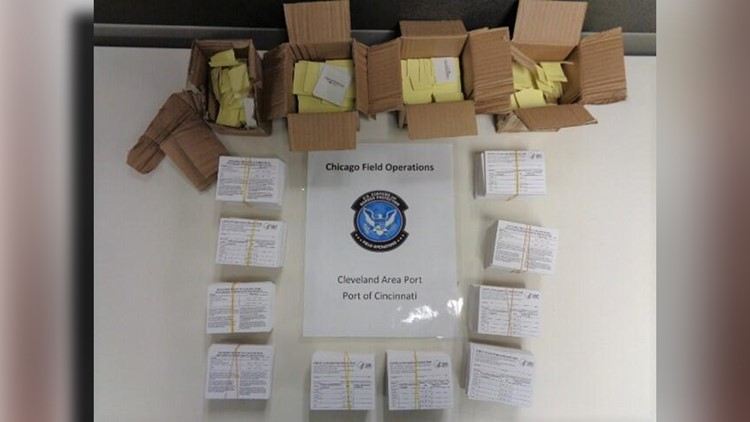Seized counterfeit COVID vaccine cards have two tell-tale signs, CBP says
