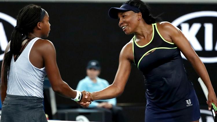 Coco and Venus Australian Open Tennis
