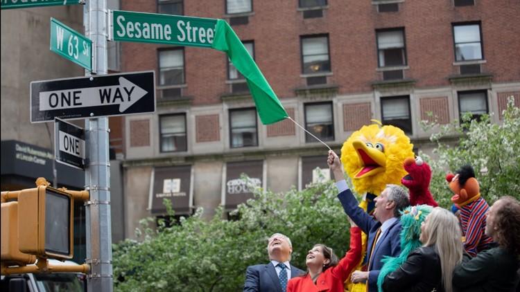 Sesame street unveiling NYC