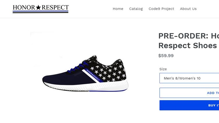 Honor and respect shoe