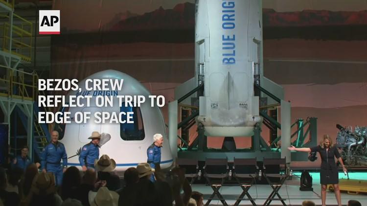 Jeff Bezos, crew reflect on trip to edge of space