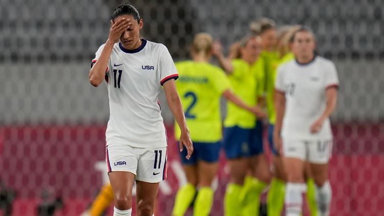 Sweden stuns US 3-0 in women's soccer at Olympics
