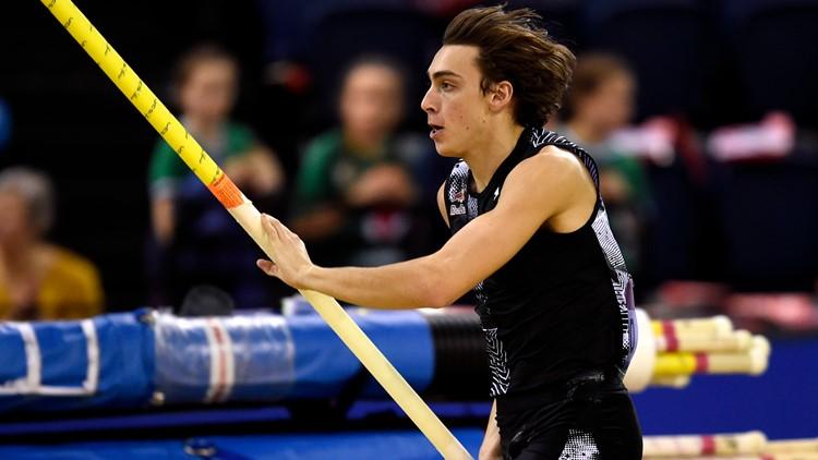 Sweden's Armand Duplantis Britain Athletics Glasgow Indoor Grand Prix