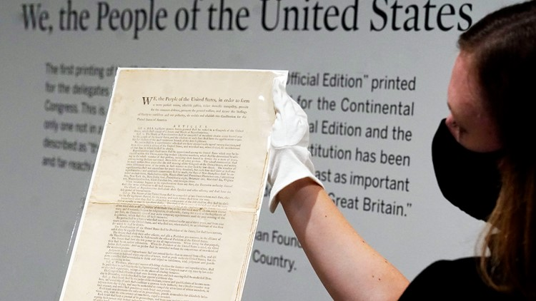 1 of the 11 surviving first prints of US Constitution up for auction
