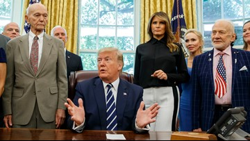 Trump marks Apollo 11 anniversary by meeting its astronauts
