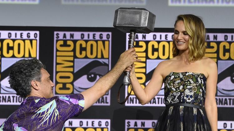 2019 Comic-Con - Marvel Studios Natalie Portman taking up the hammer as Thor