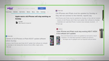 VERIFY: Reports of iPhones going down if not updated soon are misleading. This only affects the iPhone 5