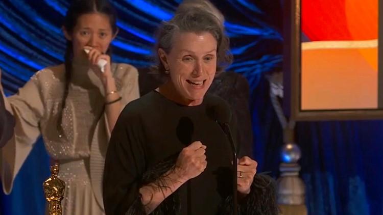 Frances McDormand wins Oscar for best actress