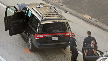 Stolen hearse carrying casket recovered after LA police chase