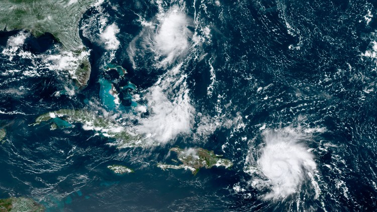 Tropical Weather Dorian Satellite AP