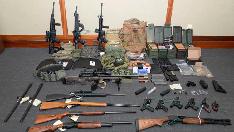 Hasson guns stockpiled
