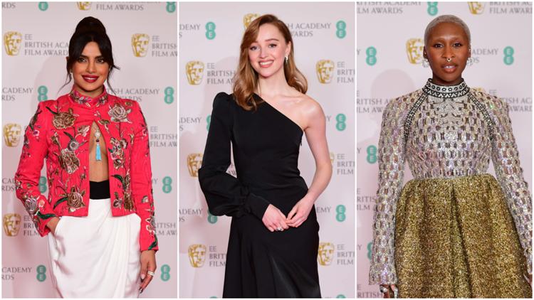 Priyanka Chopra, Phoebe Dynevor, Cynthia Erivo and More Must-See Looks From the 2021 BAFTA Awards