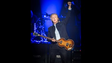 A mini-Beatles reunion! Ringo Starr, Ron Wood join Paul McCartney onstage in London