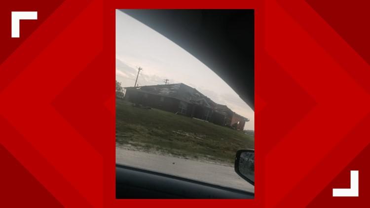 Damaged house after Copperas Cove tornado