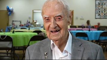 WWII veteran in Texas celebrates 100th birthday