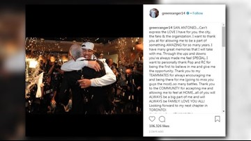 'LOVE YOU ALL': Danny Green thanks S.A. for time with Spurs