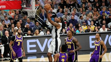 Lakers stave off furious rally for 103-96 victory against gritty Spurs