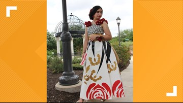 'I made this dress out of duct tape' | San Antonio teen is only Texas dress finalist left in 'Stuck at Prom' scholarship contest