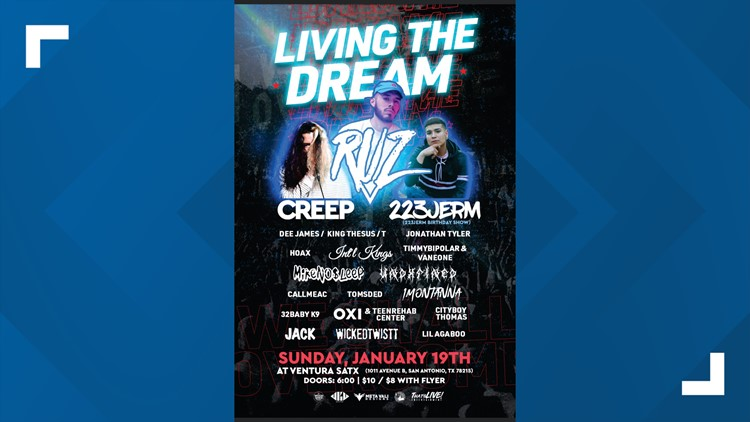 Ventura deadly shooting concert event flyer