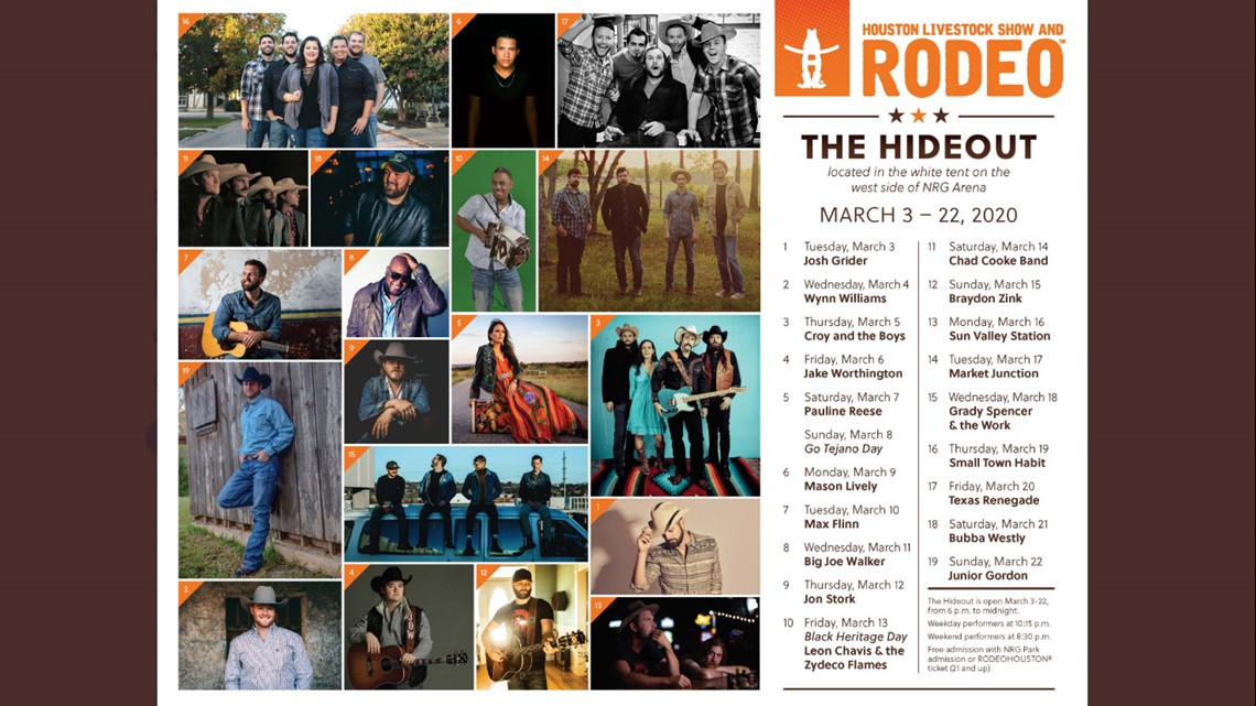 Who Will Perform At Rodeohouston S The Hideout In 2020