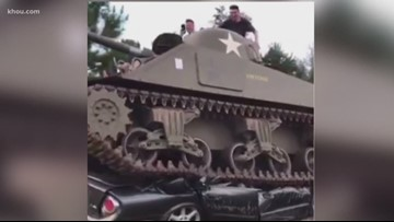 Donated WWII tank arrives at Texas A&M University