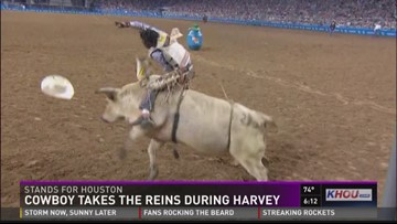 Bull rider saved dozens during Harvey