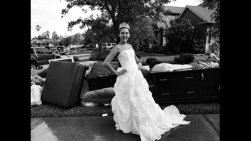 Floodwaters soaked her wedding dress but couldn't dampen her spirit