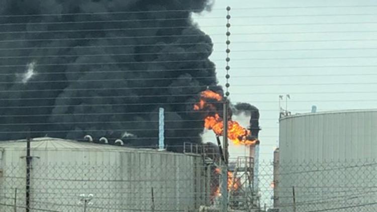 Fire at ExxonMobil Baytown