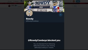 Texans mascot Toro says he was blocked by Dallas mascot Rowdy