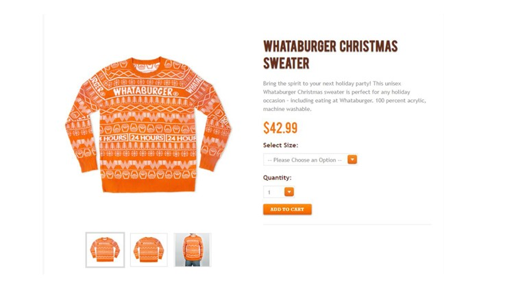 Whataburger Christmas Sweaters Already Sold Out But More Are On The