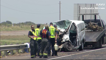 5 dead, several others injured in multi-vehicle wreck on US 59 near Victoria, fire chief says