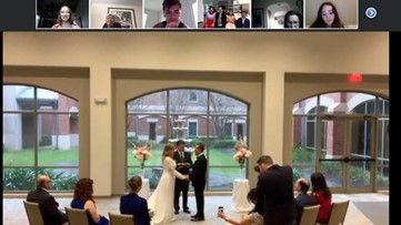 Coronavirus may have ruined their dream wedding, but it didn't stop this couple from saying 'I do'