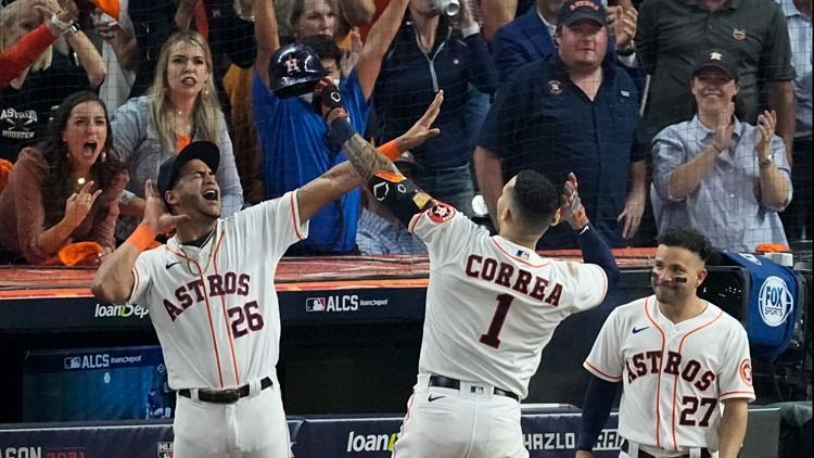 Correa, Altuve power Astros to 5-4 ALCS Game 1 win