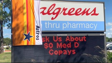Algreens: Cypress Walgreens customer covers W with Astros flag because it looks just like Nationals' logo