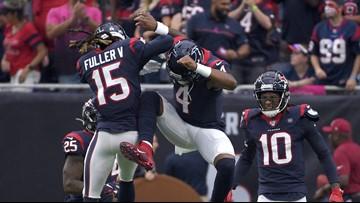 Watson throws five touchdown passes in Houston's 53-32 win over Atlanta