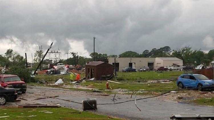 Franklin Tornado damage
