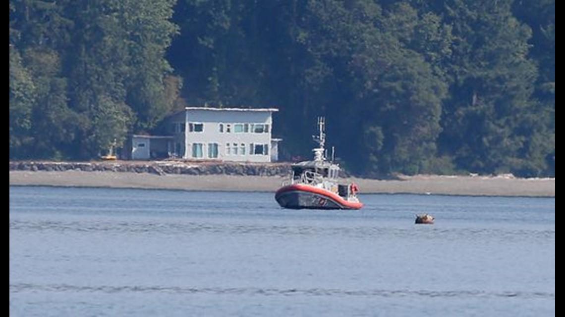 floating mine detonated in puget sound near bainbridge