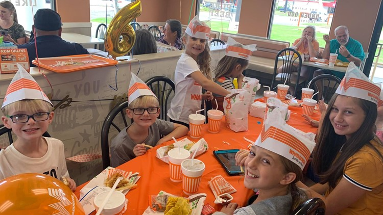 Whataburger Vidor Becca birthday party