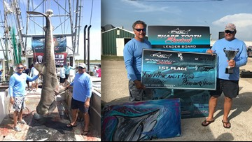 South Texas men reel in 12-foot nearly 700 pound Tiger Shark to win tournament