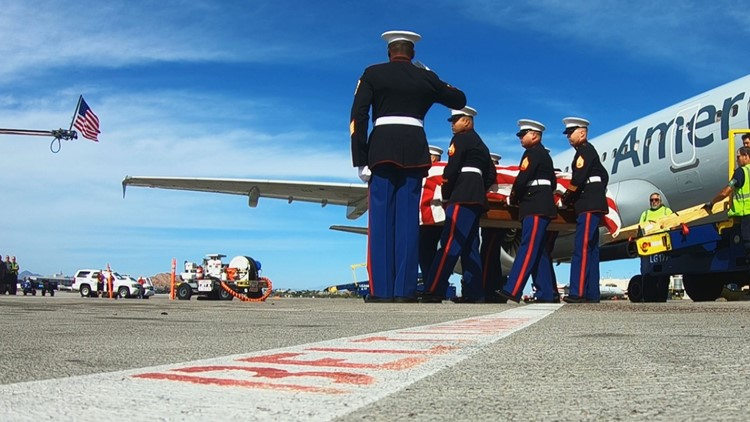 After grieving from over 2,000 miles away, family of fallen Marine gets closure