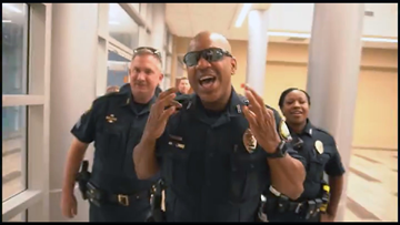 Little Rock police release the 'tiger' in viral lip-sync challenge
