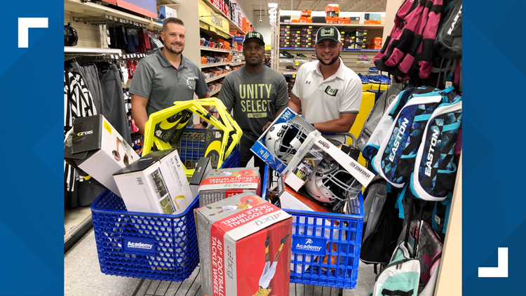 Unity Select Sports shopping spree for equipment