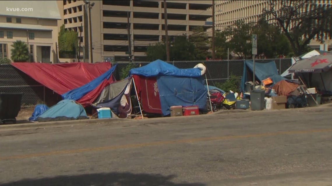 Austin's homeless will have temporary designated place to camp, governor says