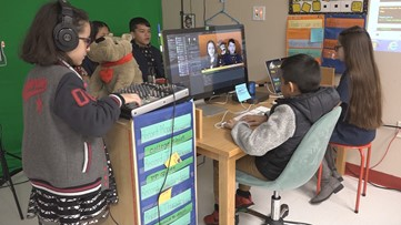 Meet the talented Manor fifth-graders putting on their school's newscasts one take at a time