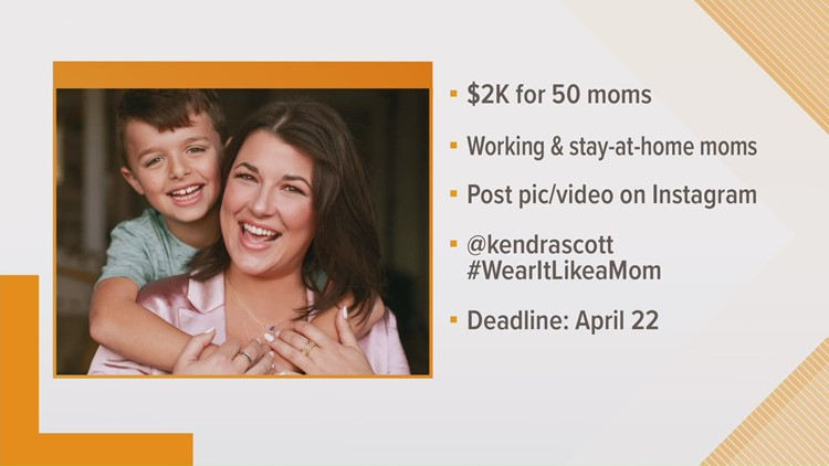 Kendra Scott giving away $2,000 to moms for Mother's Day